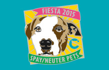 Rocky: Dog model for The Cannoli Fund's 2015 Fiesta medal